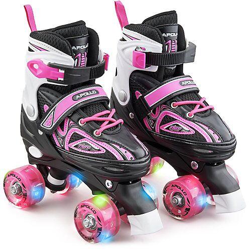 APOLLO Größenverstellbare Rollschuhe Super Quads X-Pro pink