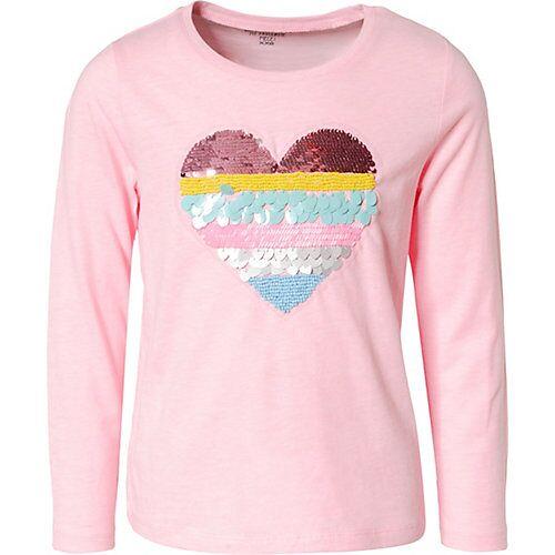 REVIEW for Kids Langarmshirts mit Pailetten  rosa Mädchen Kinder