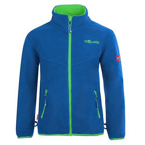 TROLLKIDS Fleece Jacke Oppdal XT Fleecejacken blau/grün