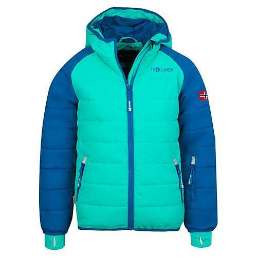TROLLKIDS Skijacke Winterjacke Hafjell XT Winterjacken Kinder blau/grün  Kinder