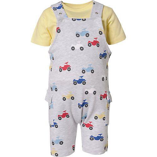 Bobby Car Baby Set Latzhose und T-Shirt gelb Jungen Baby