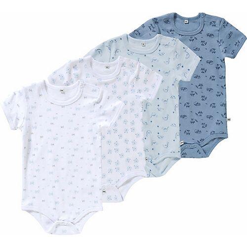 Pippi Langarmbodys  4er-Pack blau Jungen Baby