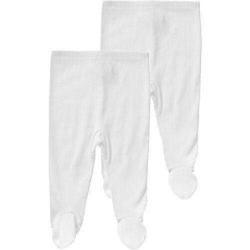 PETIT BATEAU Stramplerhose, Doppelpack weiß