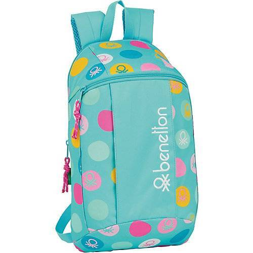 United Colors of Benetton Mini-Rucksack Benetton Topos Turquesa blau