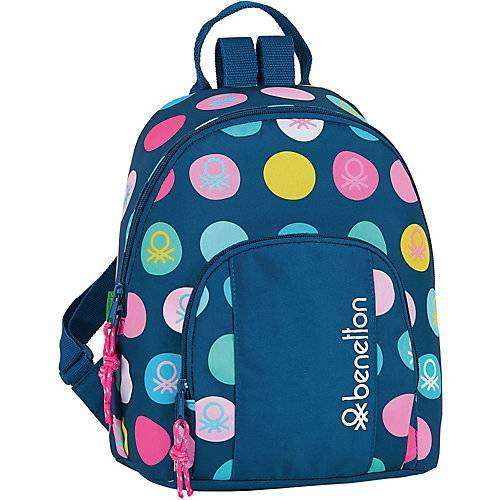 United Colors of Benetton Mini-Rucksack Benetton Topos Marino blau