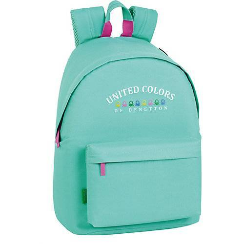 United Colors of Benetton Freizeitrucksack Benetton Girl mint blau
