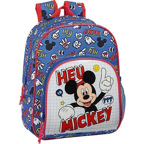 safta Kinderrucksack Mickey Mouse Hey, Mickey! blau/rot