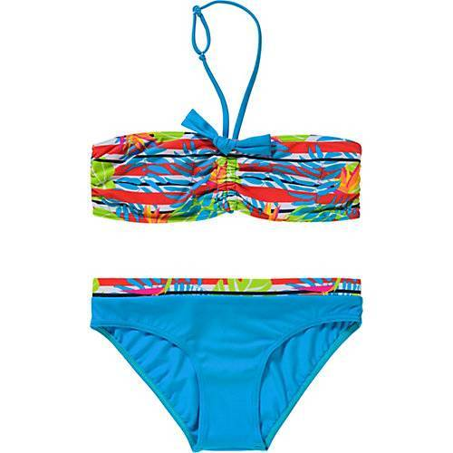 fashy Kinder Bikini blau Mädchen Kinder