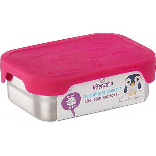 Affenzahn Edelstahl Brotdosen-Set Pink, 2-tlg. pink