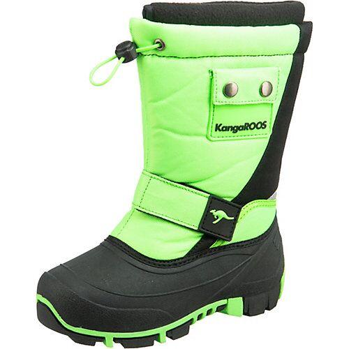KangaROOS Kinder Winterstiefel KANGA-BEAN II schwarz/grün