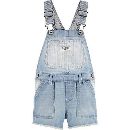 OshKosh Jeans Latzhose Mädchen blau  Kleinkinder