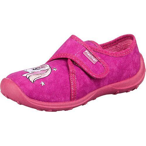 Fischer-Markenschuh Hausschuhe  pink Mädchen Kinder