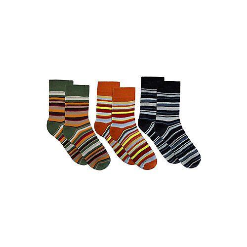 normani® 3 Paar Kinder-Ringel-Thermosocken Socken mehrfarbig