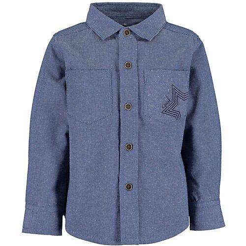 BLUE SEVEN Baby Langarmhemd   blau Jungen Baby
