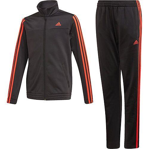 adidas Performance Trainingsanzug OSR YB 3S TS  (recycelt) schwarz/rosa Mädchen Kinder