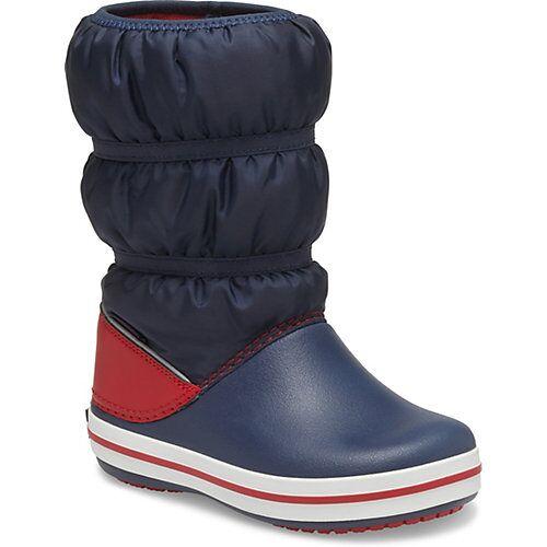 CROCS Kinder Winterstiefel blau/rot