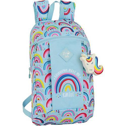safta Mini-Rucksack Rainbow blau