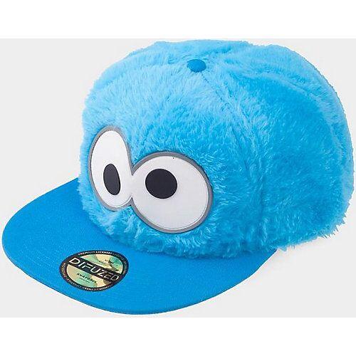 Sesamstraße Sesamstrasse Snapback Cap Cookie Monster blau