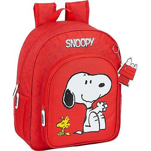 safta Kinderrucksack Peanuts Snoopy rot