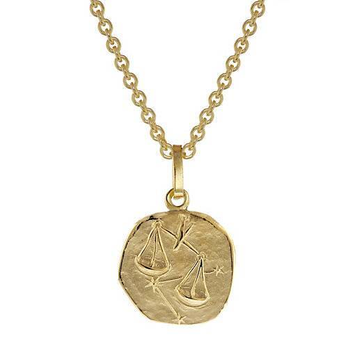 trendor Sternzeichen Kinder Waage Gold 333 Anhänger + Halskette Halsketten gold  Kinder