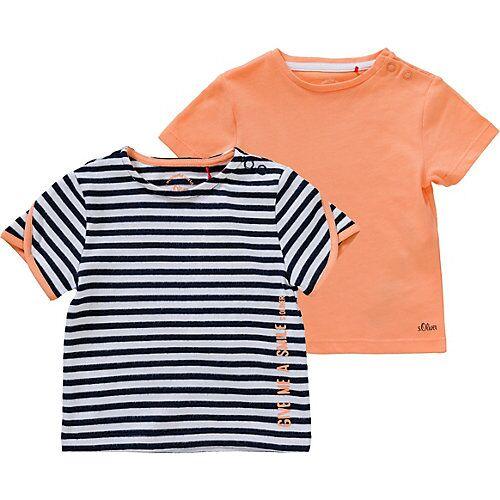 s.Oliver Baby T-Shirt , Doppelapack blau/weiß Mädchen Baby