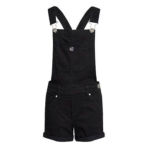 WE Fashion Mädchen-Skinny-Fit-Latzhose Latzshorts MiniW schwarz