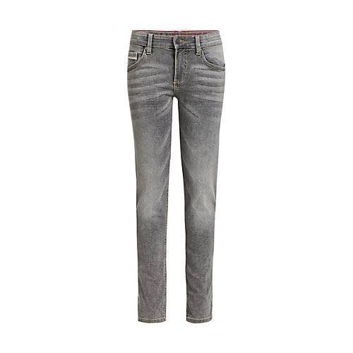 WE Fashion Jungen-Slim-Fit-Jeans Jeanshosen MiniM grau Jungen Kinder