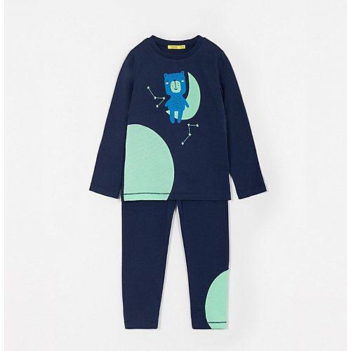 Pyjama ON THE MOON I Pyjamahosen Kinder blau  Kinder