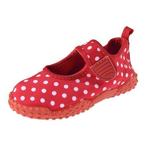 Playshoes Baby Aquaschuhe mit UV-Schutz PUNKTE  rot Mädchen Baby