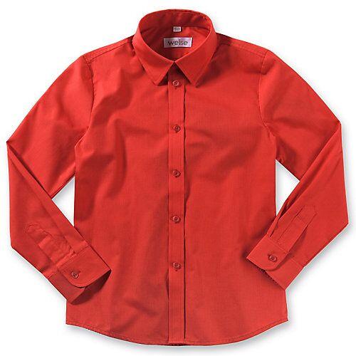 Weise Langarmhemd mit Kentkragen , Slim Fit rot Jungen Kinder