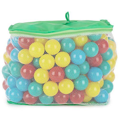 bieco Bälle Bällebad 250 Stück 6 cm Bunte Bälle Plastic Balls Bällebad Hunde Bällebäder mehrfarbig  Kinder