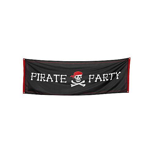 Boland Banner Piratenparty Partydeko Kinder schwarz  Kinder