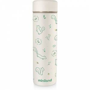 Miniland Thermoflasche Natur Thermo, 450 ml, chip mint/weiß