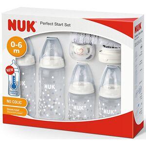 NUK First Choice Perfect Start Set mit Temperature Control Anzeige, Erstausstattung fürs Baby, mit First Choice Plus Babyflaschen aus Polypropylen (PP), 0-6 M weiß  Kinder