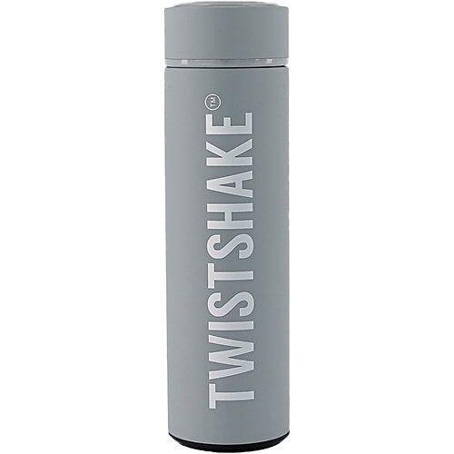 Twistshake Hot or Cold Bottle 420ml Pastel Grey grau