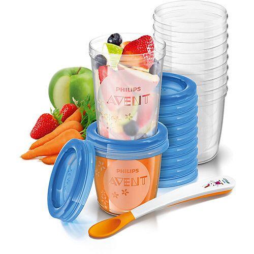 PHILIPS AVENT Aufbewahrungsbecher Babynahrung SCF721/20, 180 ml+240 ml farblos  Kinder