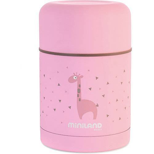 Miniland Thermobehälter Silky Thermo Food, 600ml, pink
