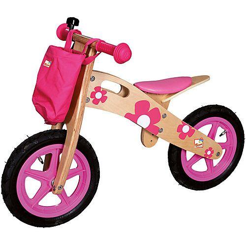Bino Holz-Laufrad, rosa