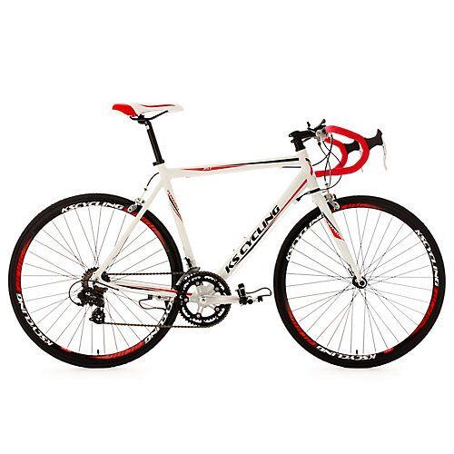 KS Cycling 28 Rennrad 14 Gänge Euphoria Rennräder, Rahmenhöhe: 62 cm weiß