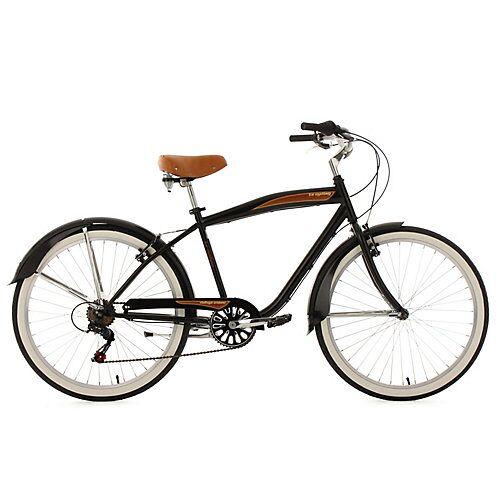 KS Cycling Beachcruiser 26 Zoll Vintage schwarz 6-Gänge Beachcruiser, Rahmenhöhe:
