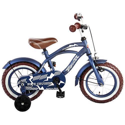 Volare Kinderfahrrad Blue Cruiser, 12 Zoll blau
