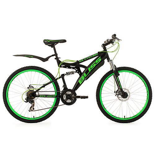 KS Cycling Fully Mountainbike Bliss 26 Zoll Mountainbikes schwarz