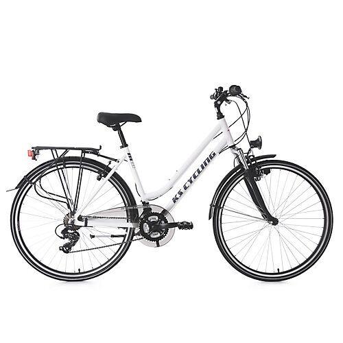KS Cycling 28  Zoll Trekkingrad Damenfahrrad Metropolis 21 Gänge Trekkingräder weiß