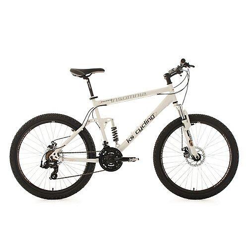 KS Cycling Mountainbike Fully 21 Gänge Insomnia 26 Zoll Mountainbikes weiß