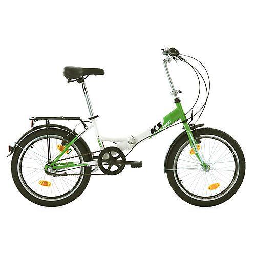 KS Cycling Faltrad 3 Gänge Klapprad FX300 20 Zoll Klappräder grün