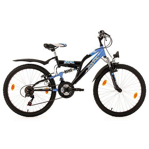 KS Cycling Kinderfahrrad 24'' Zodiac RH 38 cm Fahrräder, Rahmenhöhe: 38 cm schwarz