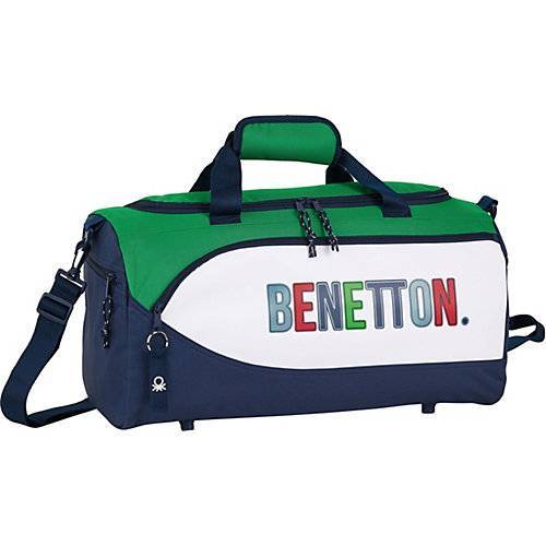 United Colors of Benetton Sporttasche/Reisetasche Benetton UCB 1965 blau/grün