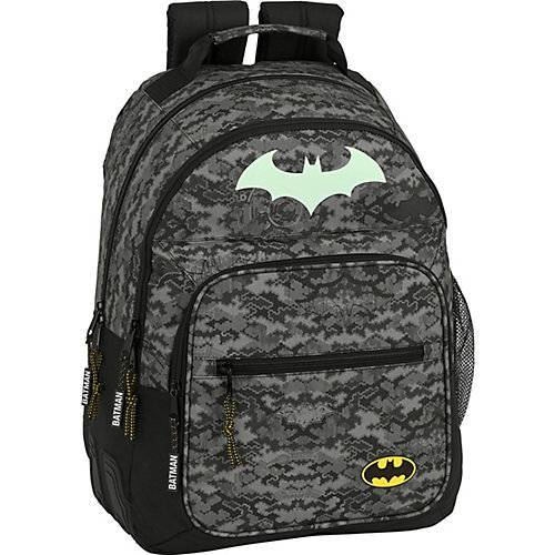 safta Schulrucksack Glow in the Dark Batman Night schwarz