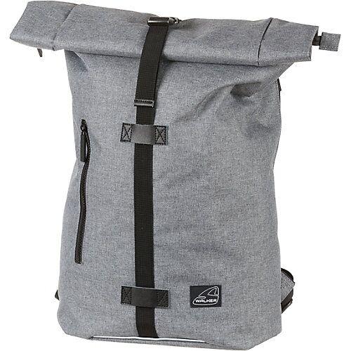 WALKER Rucksack Kuriertasche CLASSIC grey melange grau/orange