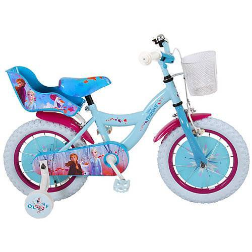 Volare Kinderfahrrad - Mädchen - 14 Zoll - Blau / Lila - blau